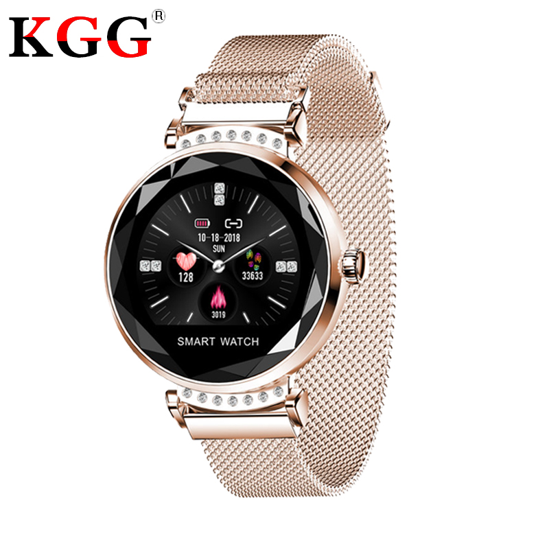 Newest Fashion H2 Smart Watch Women 3D Diamond Glass Heart Rate Blood Pressure Sleep Monitor Best