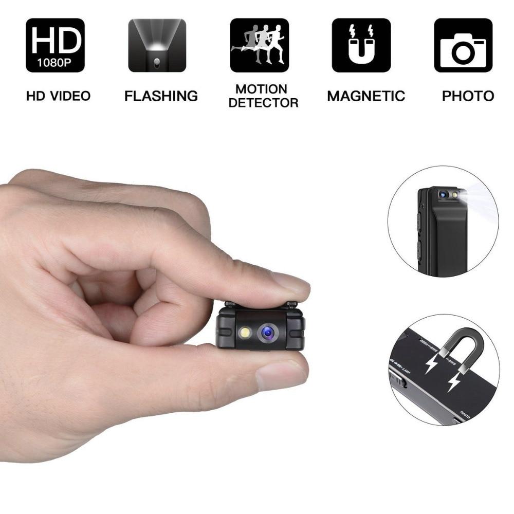 Mini Digital Camera HD Flashlight Micro Cam Magnetic Body Camera Motion  Detection Snapshot Loop Recording Camcorder