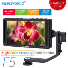 FEELWORLD F5 5 인치 DSLR 카메라 모니터 소형 HD 포커스 비디오 지원 필드 모니터 LCD IPS Full HD 1920x1080 4K HDMI 입력 출력
