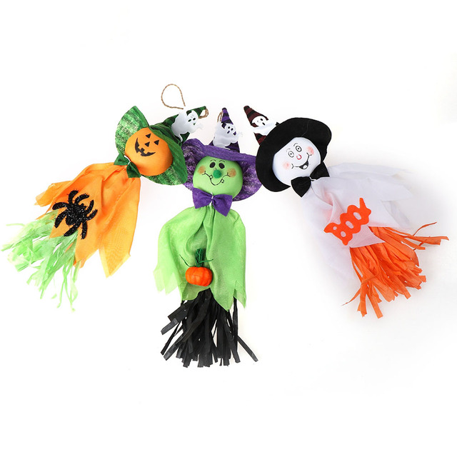Halloween Party Supplies Cute Decor Hotel Bar Haunted House Ghost Pull Flowers Festival Props