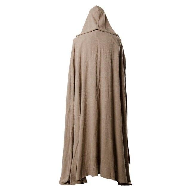 2018 Star Wars 8 The Last Jedi Luke Skywalker Cosplay Costume Robe Halloween Carnival Costume For Adult Men 3