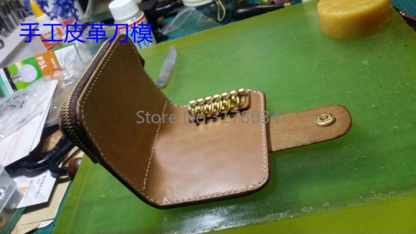 NewJapan acier lame artisanat cuir bricolage fermeture à glissière bouton pression pièce sac porte-clés portefeuille couteau moule en bois découpe ensemble main poinçon