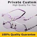 Señoras Diseñador de la marca Gafas de Miopía Mujeres Gafas Marco Óptico marco de Anteojos Sin Montura con la Caja de las Gafas de Lectura 617