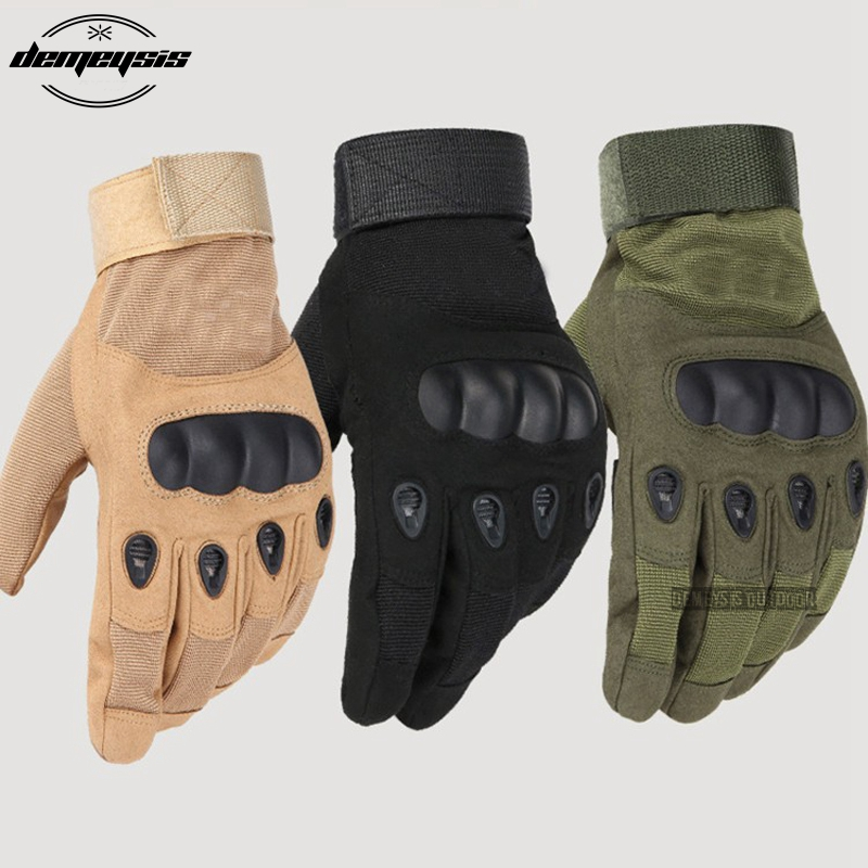 2018 Tactical Gloves Military Army Paintball Airsoft Outdoor Sports Shooting Police Carbon Hard Knuckle Full Finger Gloves