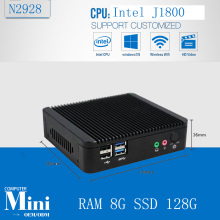 Arm embedded computers Intel J1800 X86 computer 8G RAM 128G SSD fanless thin client