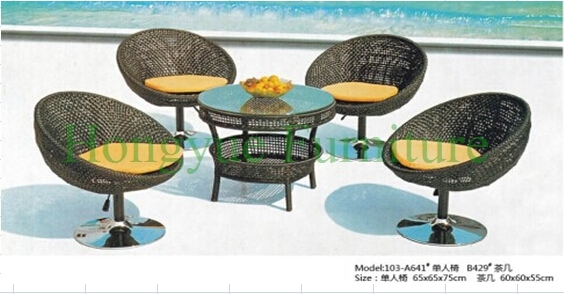 Patio bistro exterior con cojines, bistro mimbre mesa sillas en ...