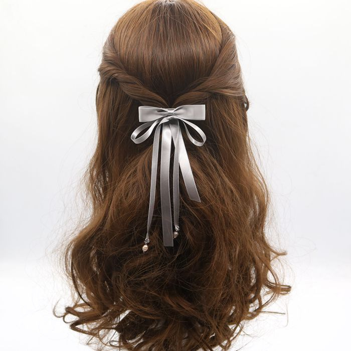 Bow hair clip hair ornaments long ribbon with ribbons Liuhai side folder top folder duckboy chucks jewelry