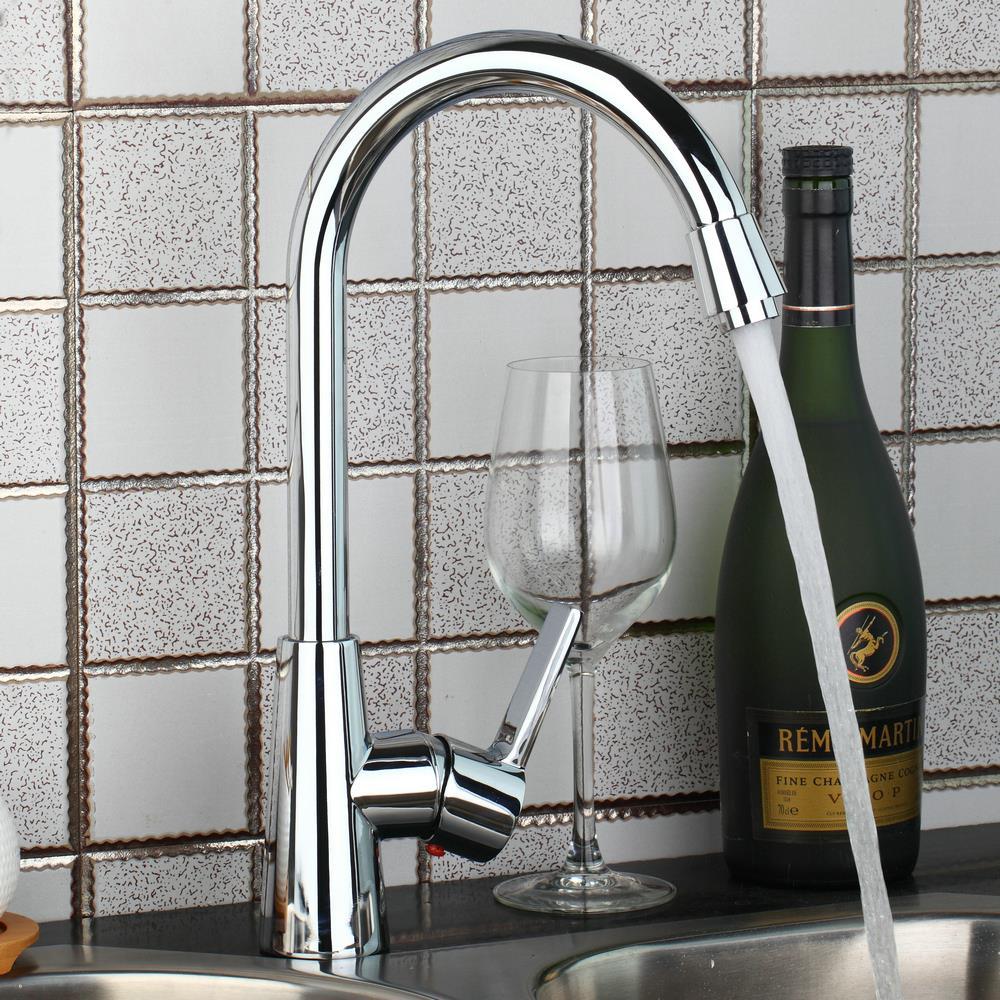 YANKSMART Chrome Brass Basin Faucet Bathroom Kitchen Basin Sink Rotable Spout Mixer Tap Faucet Tap torneira