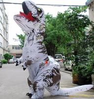 New White T REX Inflatable Dinosaur Costume Christmas Cosplay Animal Jumpsuit Halloween Costume Adult Size
