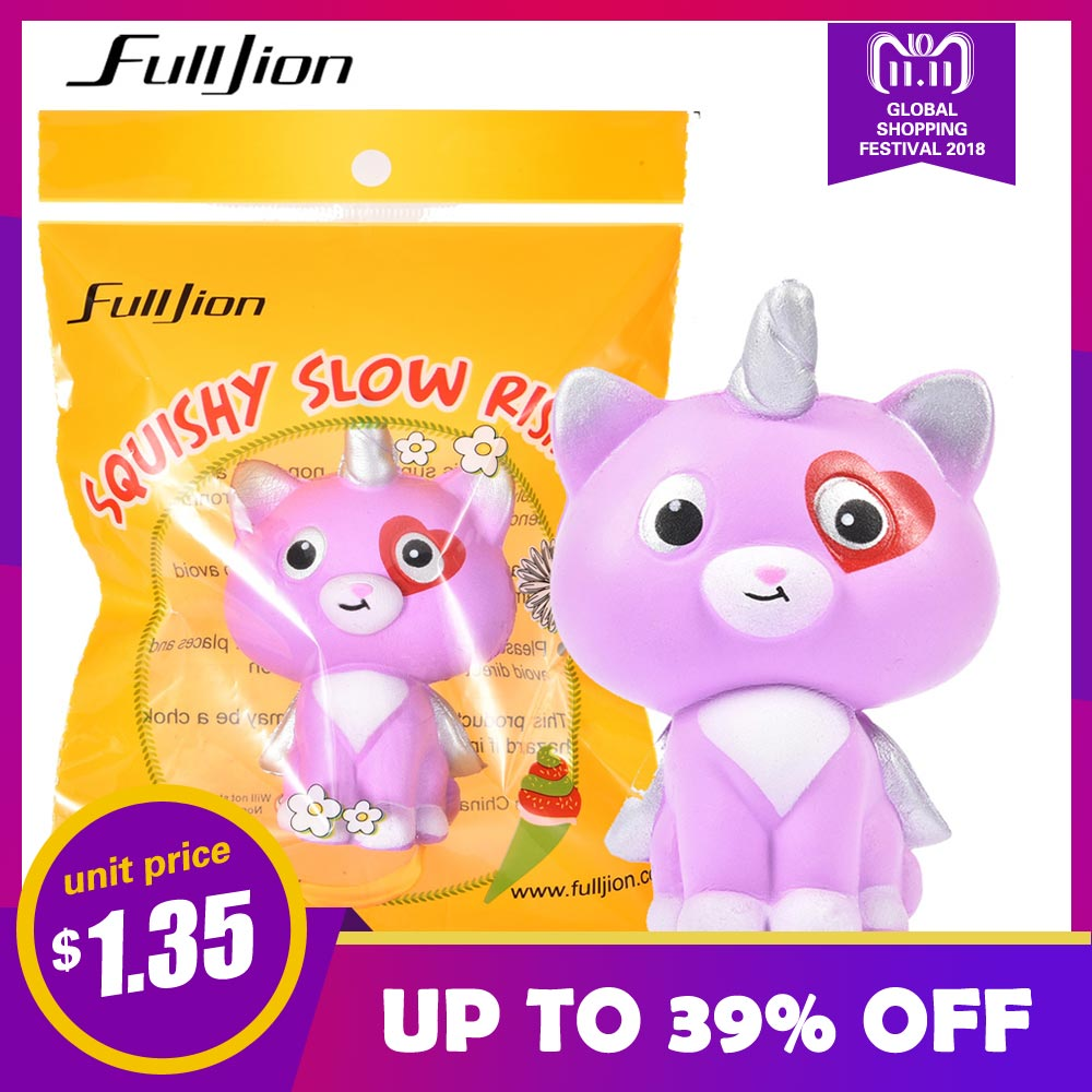 купить Fulljion Squishy Unicorn Cat Squish Antistress Entertainment Novelty Gag Toys Stress Relief Anti-stres Popular Squeeze Squishes