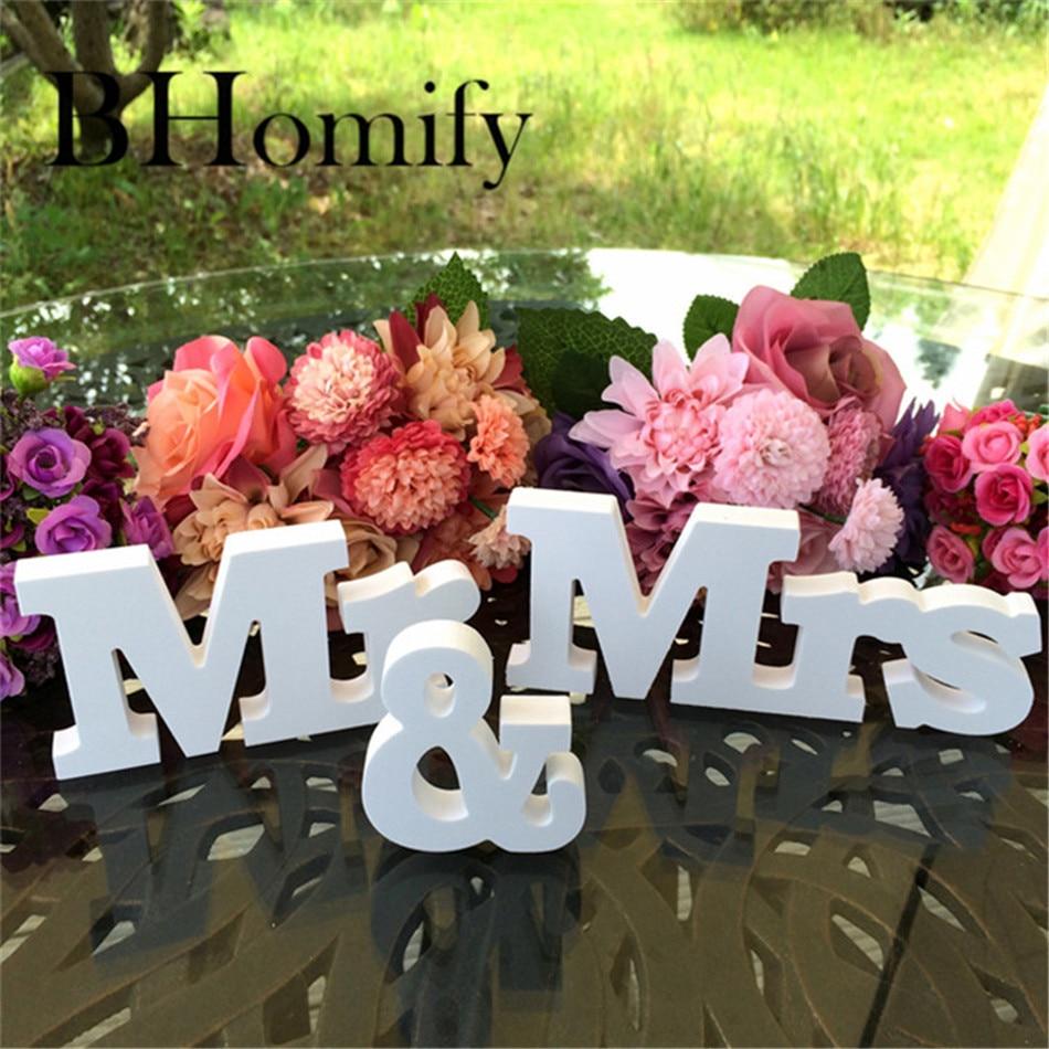 Bhomify 3 шт./компл. Винтаж mr Mrs буквы для Свадебные украшения таблице знак Топ подарок декор День Святого Валентина украшения