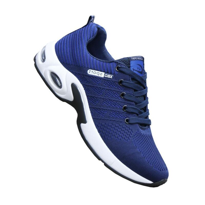 Men's Casual Shoes Mens Mesh Casual Shoes Flying Woven Trend Running Shoes Wild Breathable Sports Shoes High Quality Cushion Shoes Men's Shoes Aike Asia Hot