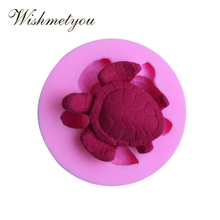 WISHMETYOU Silicone Soap Mold Sea Turtle Shape Cake Decorating Tools A Jelly Candy Chocolate Decorative Baking Tool Craft