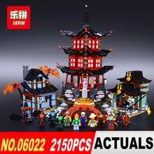 Lepin 06022 Ville de Stiix Blocs de Construction 2150 pcs Temple de Airjitzu Enfants Briques Jouets brinquedos 70603