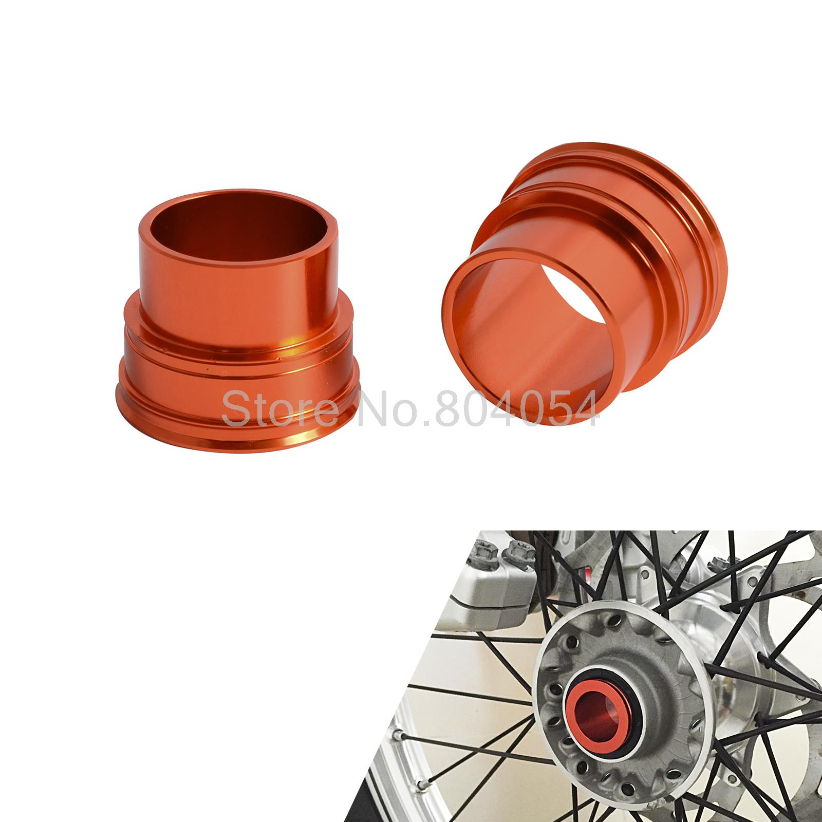 CNC Billet Aluminum Front Wheel Hub Spacers Collars For KTM 125 200 250 300 350 400 450 525 530 SX SXF XCF EXC EXC-F EXC-W XCW orange cnc billet factory oil filter cover for ktm sx exc xc f xcf w 250 400 450 520 525 540 950 990