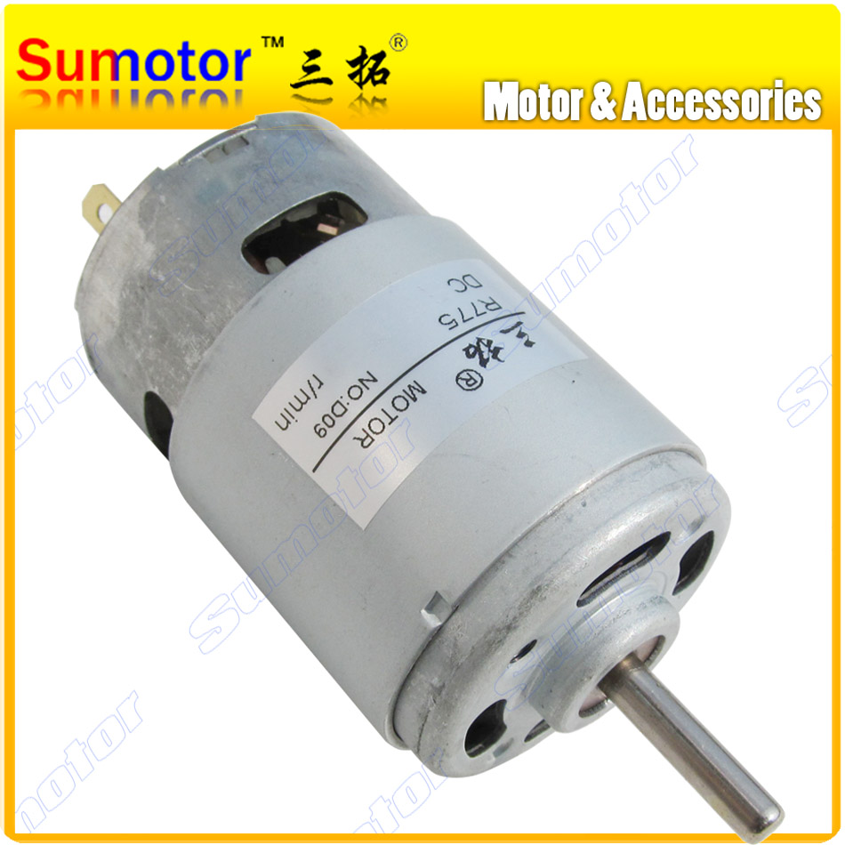 R775 9000rpm DC 24V 80W 4.8A High speed Glass Cutter Electric motor for Machine tool Children car Rabbler Carved bench drill 50gb 775 dc motor dc motor machine tool dc12 24v