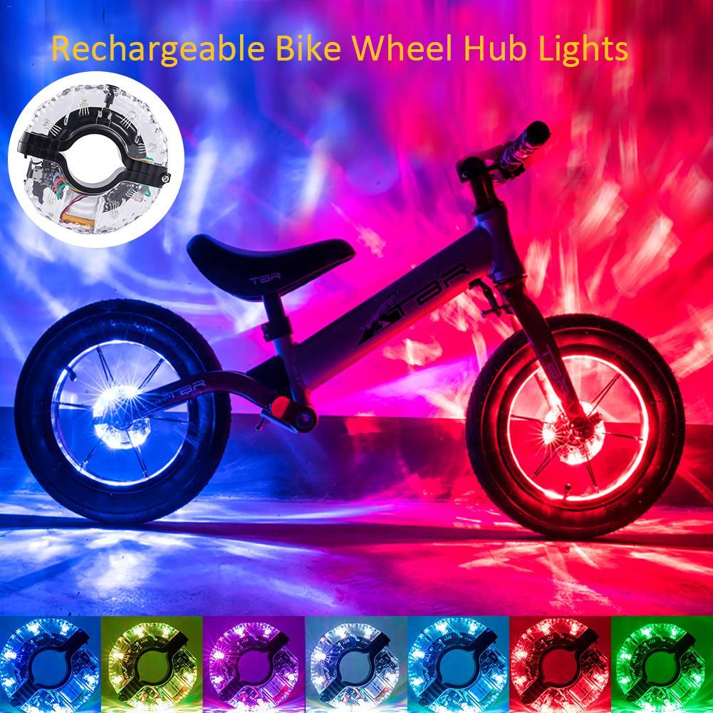 Waterproof Bike Tire Lights 3 Modes for Safety Warning /& Bike Spoke Decoration LifeUp Rechargeable Bike Wheel Lights Colorful LED Bike Light