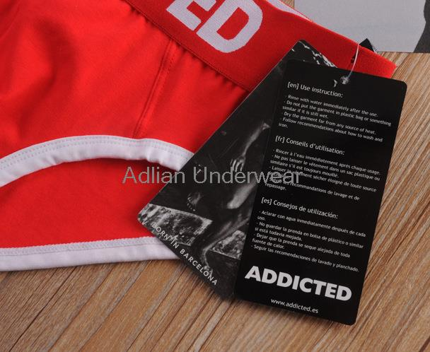 1a6949ee0499cc Addicted PACK UP SPORT BRIEF Men s U Convex Bag Briefs Cotton Undies Sexy  Gay Shorts Underwear 5pcs lot Wholesale ADD001-in Briefs from Underwear ...