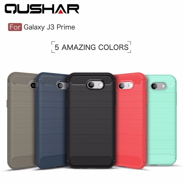 wholesale dealer 8338b 88252 US $4.69 |QuShar Soft Back Case for Samsung J3 prime Silicone Cover Black  Red Phone Case for Samsung Galaxy J3 Prime Shockproof Cover Bags-in Fitted  ...