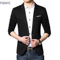 FGKKS Chegada Nova Luxury Business Casual Terno Dos Homens Blazers Set Profissional Vestido de Casamento Formal Projeto Bonito Plus Size M-6XL