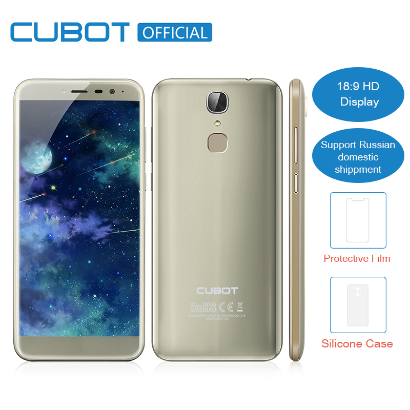 Cubot X18 3GB RAM 32GB ROM 5.7 18:9 Edge-Less Screen Android 7.0 MT6737T Quad Core Smartphone 13MP Camera Fingerprint Cellphone