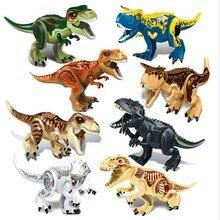 Динозавр Юрского периода DIY Building Block Tyrannosaurus собраны творческие детские игрушки с головоломки строительные блоки подарок
