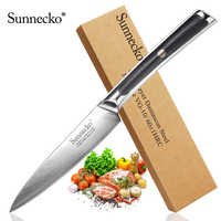 "Sunnecko New 5"" inch Utility Knife Japanese VG10 Steel Razor Sharp Blade Damascus Kitchen Chef Knives G10 Exquisite Handle"