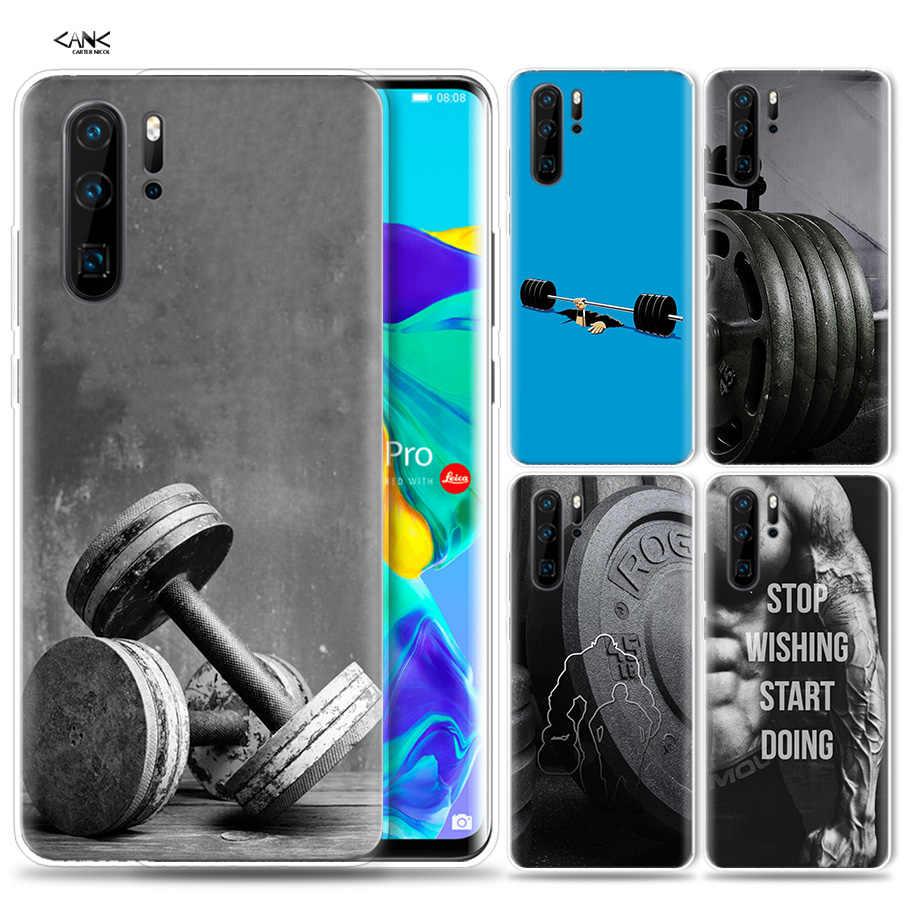Funda para Huawei P30 P20 P10 P9 Mate 10 20 Lite Pro bolsa para teléfono móvil P Smart Z 2019 más culturismo gimnasio Fitness P8 P30Pro