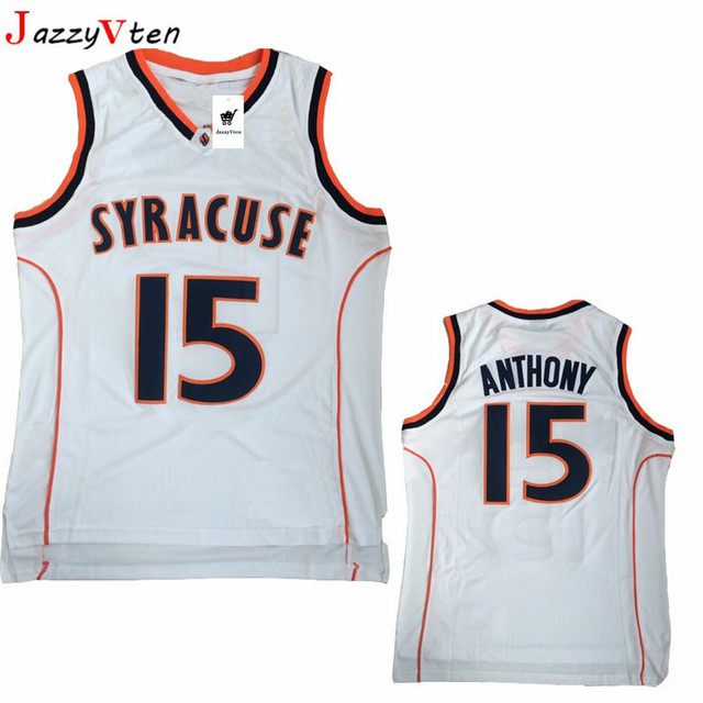 79b22e026a70 Cheap Retro Carmelo Anthony Basketball Jerseys 15  Syracuse University  Throwback Knitted Embroidery High Quality Shirts For Men