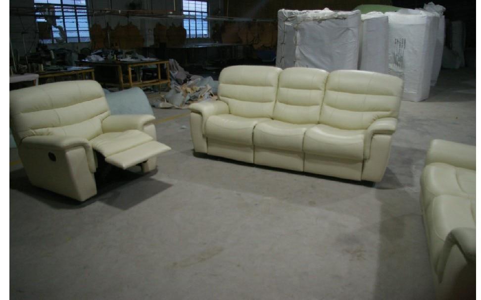 2015 sala de estar sofá moderno sofá reclinable sofá de cuero con - Mueble - foto 4