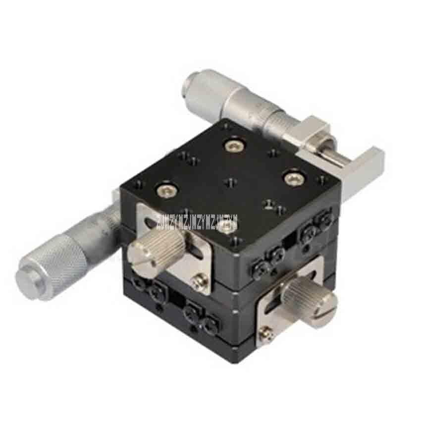 LY40-L Déplacement Manuel Table Coulissante En Aluminium Alliage Précision Fine-tuning Stand Réglable Plate-Forme 29.4N (3kgf) 40*40mm