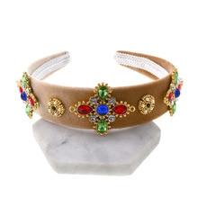 2019 New Fashion Hairband Headband Jewelled Head Band Gem Jewel Ladies Women Diamond Crown Baroque Festival Hair Accessories