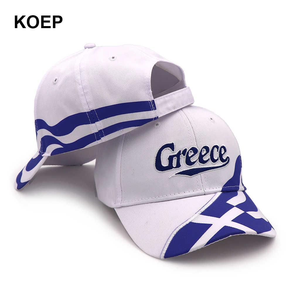 f9ed31f679149 KOEP Wholesale Spring Fashion Baseball Cap Snapback Greece Flag Caps For  Women Summer Mesh Trucker Hat Girl Unisex Hip-Hop Hats