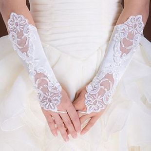 Kid Gloves Flower Girl Gloves Long Gloves Girl Dancing Costume Gloves Free Shipping Wholesale Bridal Gloves