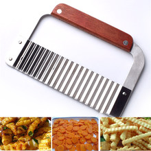 Stainless steel potato knife wave knife spiker slicer cutting machine cut French fries ripple knife cut fancy fries knife tools(China)