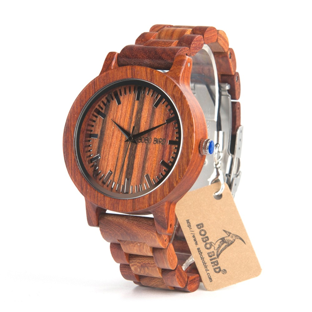 BOBO BIRD CdM10 Wooden Watches Men Full Red Sandalwood Dial Vintage Style Watch Erkek Quartz Clock in Box Uomo Orologio wireless service call bell system popular in restaurant ce passed 433 92mhz full equipment watch pager 1 watch 7 call button