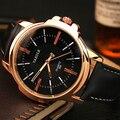 Rosa de Ouro Relógios de Pulso Para Homens 2017 Masculino Relógio Negócio Relógio De Quartzo Homens Top Marca de Luxo Famoso Relógio De Pulso Relogio masculino