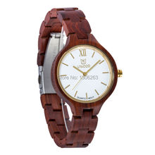 High Grade UWOOD Wooden and Good Quality Watch Wood With Women Water Proof Women Wood Watch