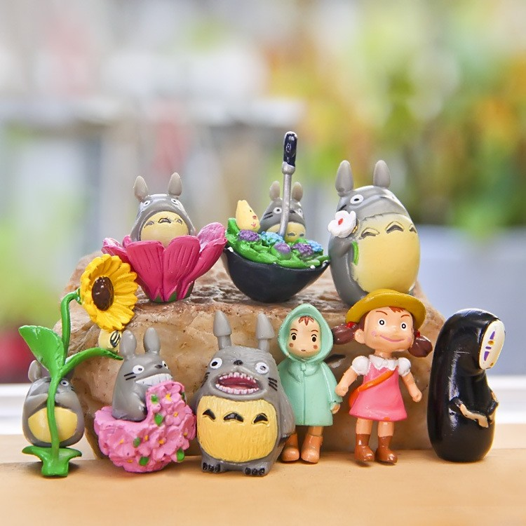 9pcs My Neighbor Totoro Toy Hayao Miyazaki Mini Garden PVC Action Figures Kids Toys For Boys Girls
