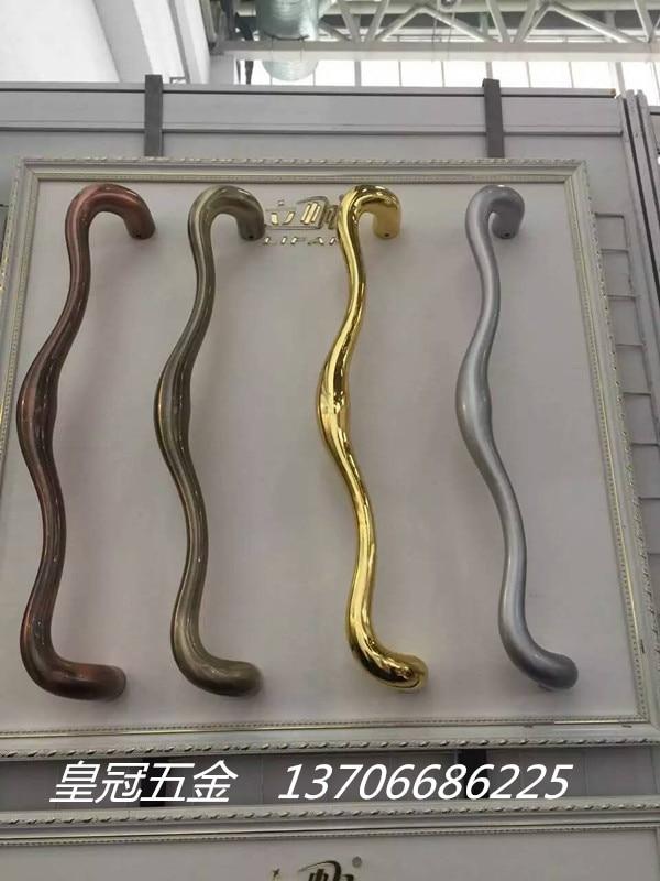 Manija de la puerta deslizante manija de la puerta moderna cocina 9864 aleación de aluminio Puerta de balcón manija de puerta de cristal pesada - 2