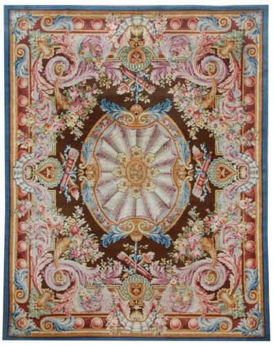 2014 Limited New Arrival Tapetes Details About 13 X 17 Oversize Antique Repro Thick Plush French Savonnerie Rug Made To Order