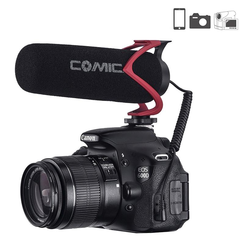 Comica On Camera Microphone Directional Condenser Recording Shotgun Video Mic For IPhone Canon DSLR VS Rode Videomicro
