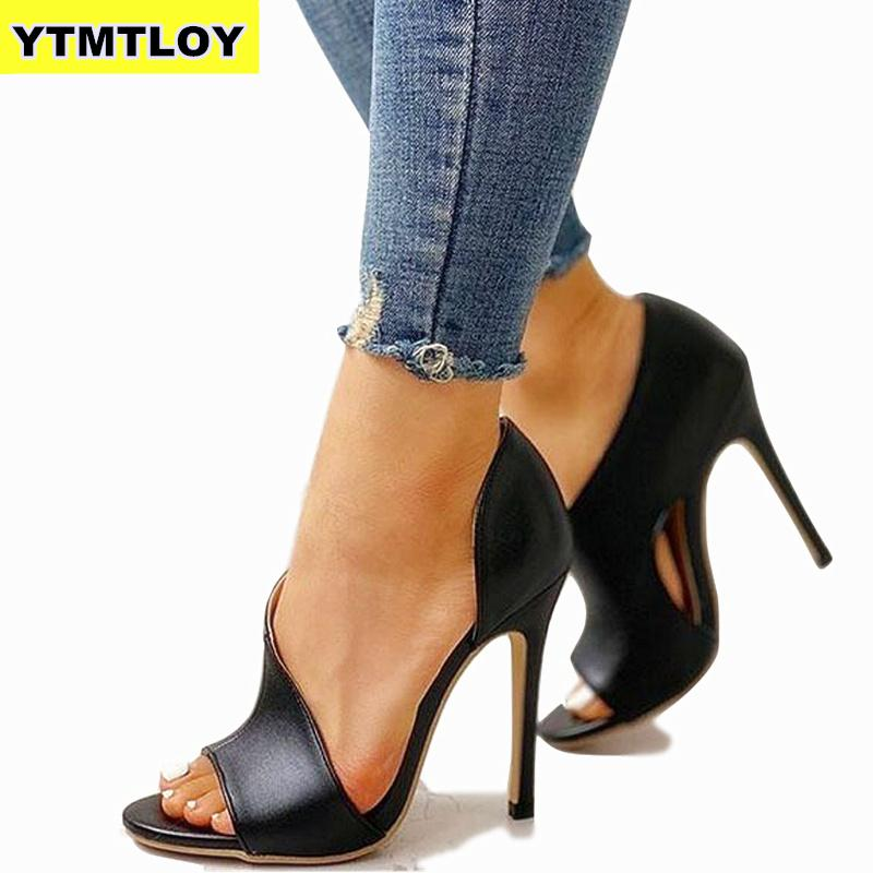 Ladies Summer Sandals Fashion Solid Color Casual Open Toe Super High Heel Fish Head Pumps Rome Peep Toe Sexy Heels Gladiator
