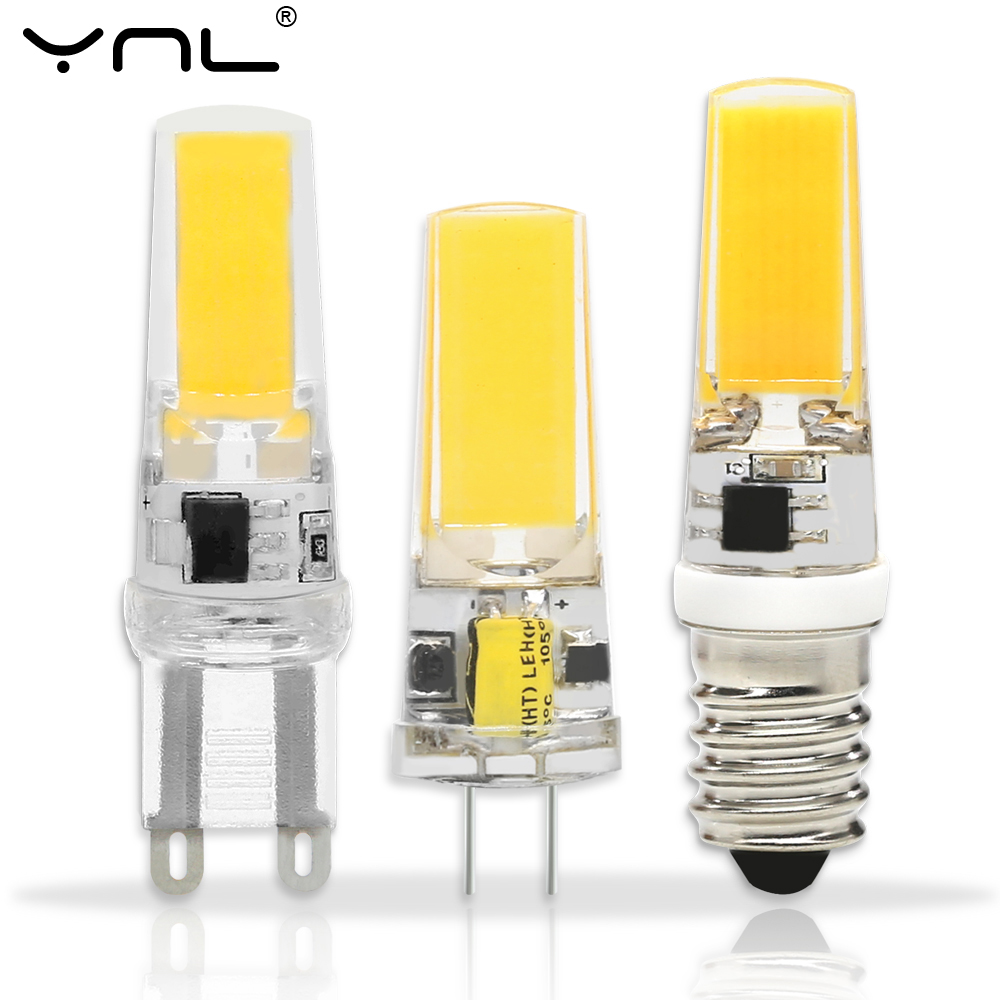 G4 G9 LED Lamp E14 COB 3W 6W 9W Lampada LED Bulb AC DC 12V 220V Bombillas LED G4 G9 E14 COB Replace Halogen Chandelier G4 Lamps