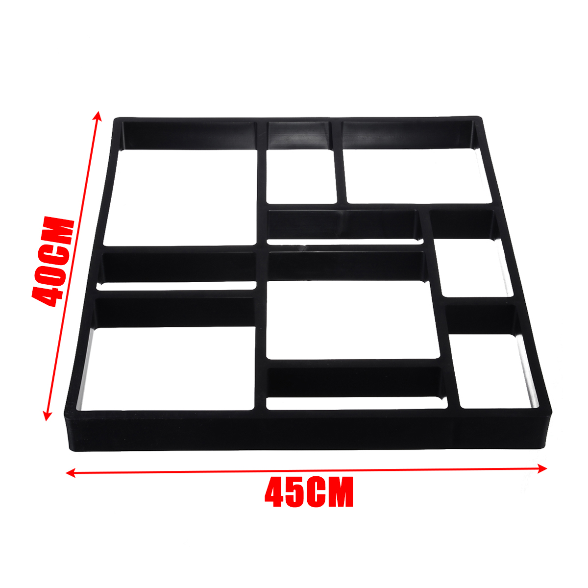 Image 4 - DIY Garden Pavement Mold Garden Walk Pavement Concrete Mould Paving Cement Brick Stone Road Path Maker 45*40cm-in Garden Floor Boards from Home & Garden