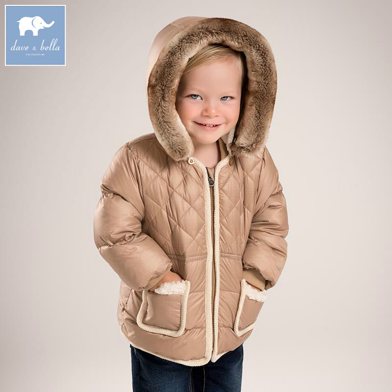 DB5512 dave bella winter baby boys down jacket children white duck down padded coat kids hooded outerwear цена