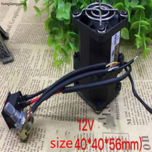 40*40*56mm 12V motorcycle turbocharger fan cooling oil cooler with switch governor modify