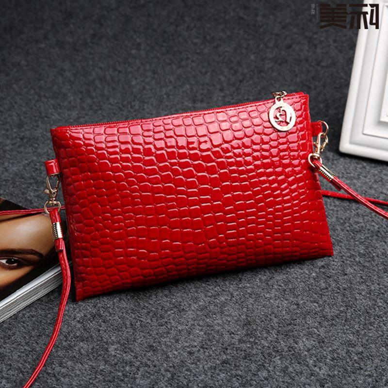 Женская сумка предлагаем высокое качество Искусственная кожа Крокодил небольшой плечо все новый летний прилив женские сумки через плечо л...