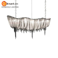 Modern Chain Cloth Shaped Art Pendant Lights Engineering Design Luxury Aluminum Chain LED Pendant Lamp For Indoor Decor(DZ 50)