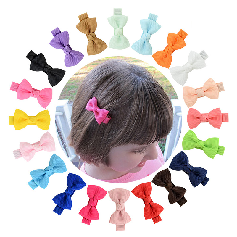 36pcs Plain olive small Satin Hair Clip COVERS For Toddler baby children 35 mm